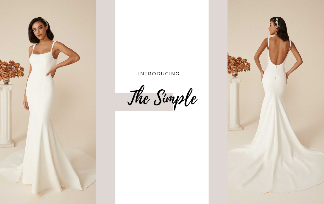Brides of Chester introduces its Clean, Simple Wedding Dress Collection